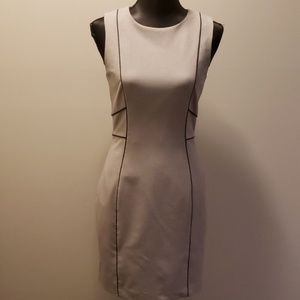 H&M Sheath Dress in heather grey & Black trim 8